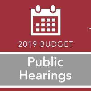 2019 Budget Public Hearing Image