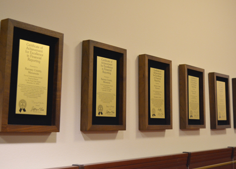 Awards from the Government Finance Officers Association