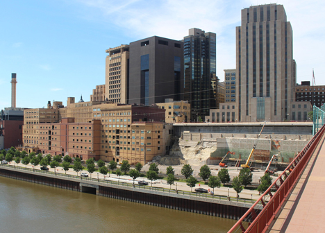 Riverfront Properties deconstruction as of July 1, 2016