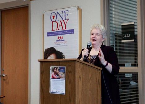 Commissioner Reinhardt speaking at National Adoption Day 2016