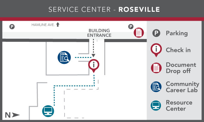 Image of Ramsey County Service Center - Roseville layout