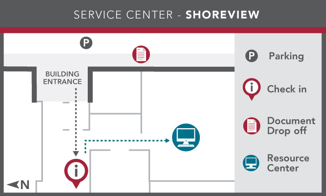 Image of Ramsey County Service Center - Shoreview layout