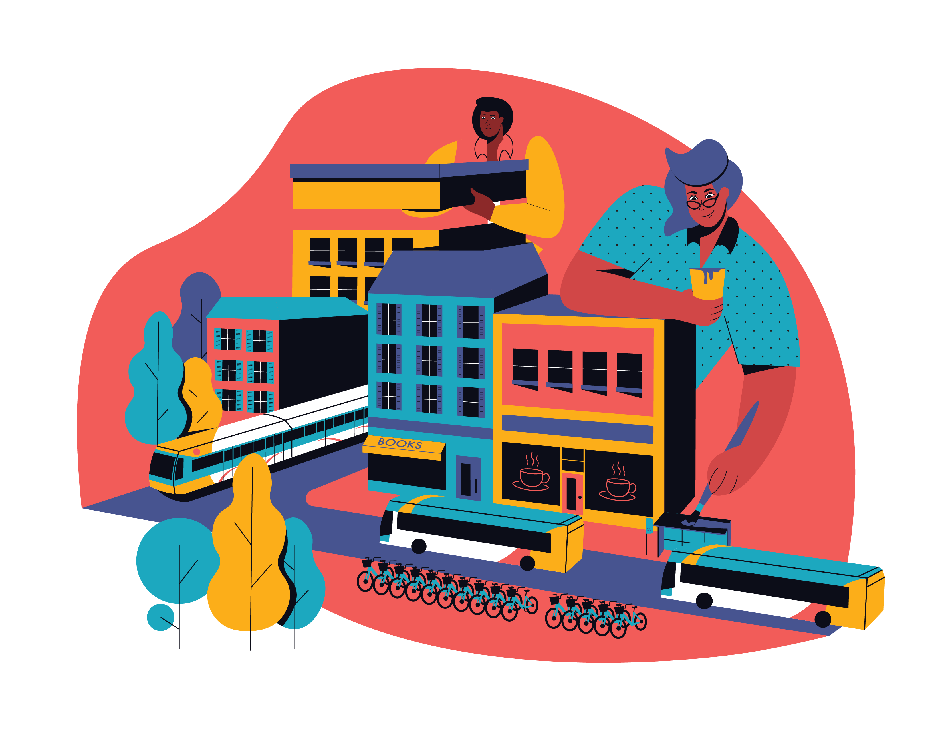 Foster inclusive economic development within county transit and key commercial corridors illustration