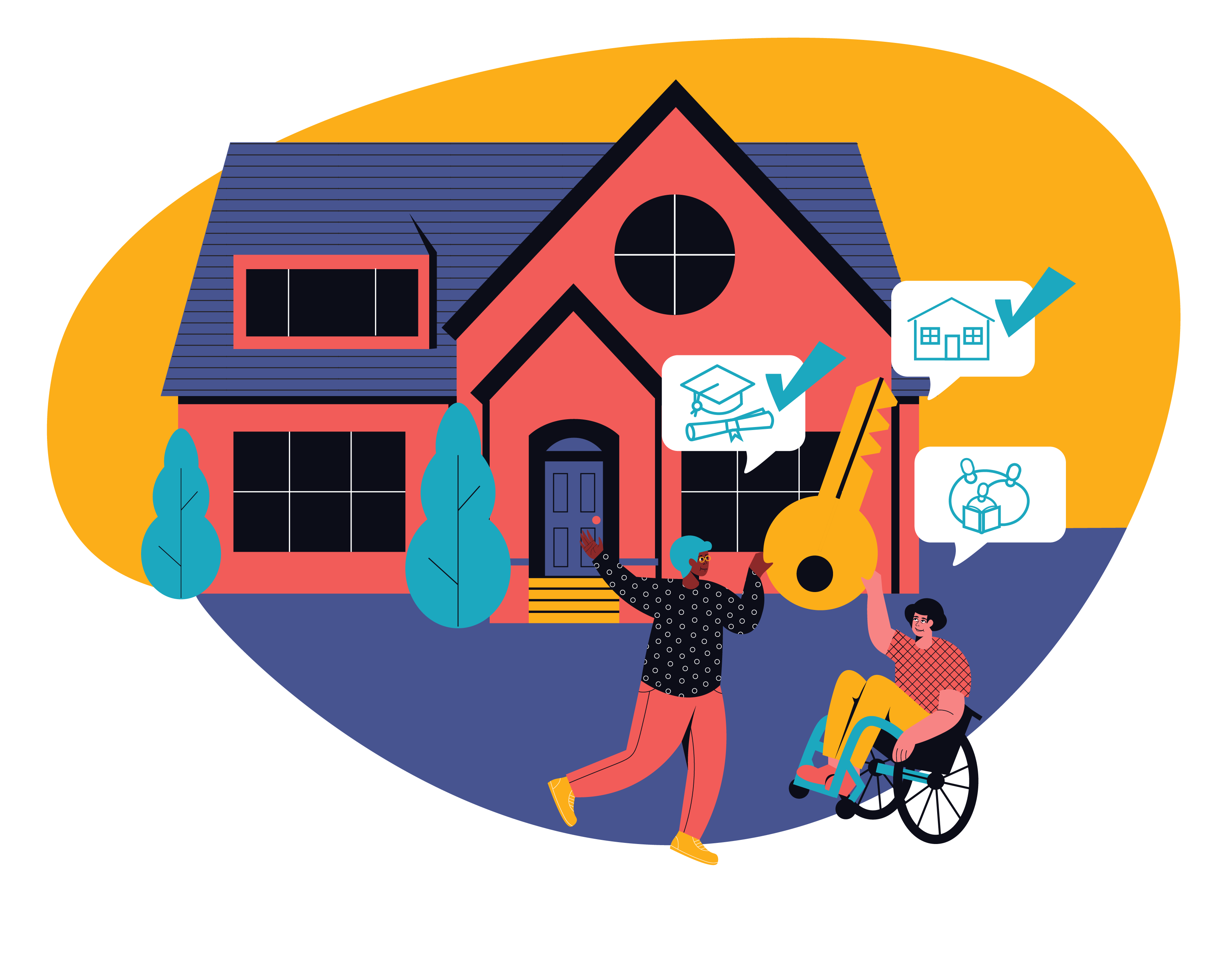 Expand affordable homeownership opportunities and improv housing stability illustration