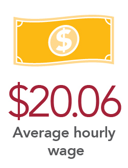 $20.06 Average hourly wage