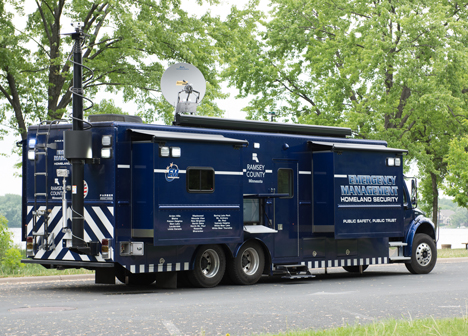 Emergency Management & Homeland Security's mobile incident command center