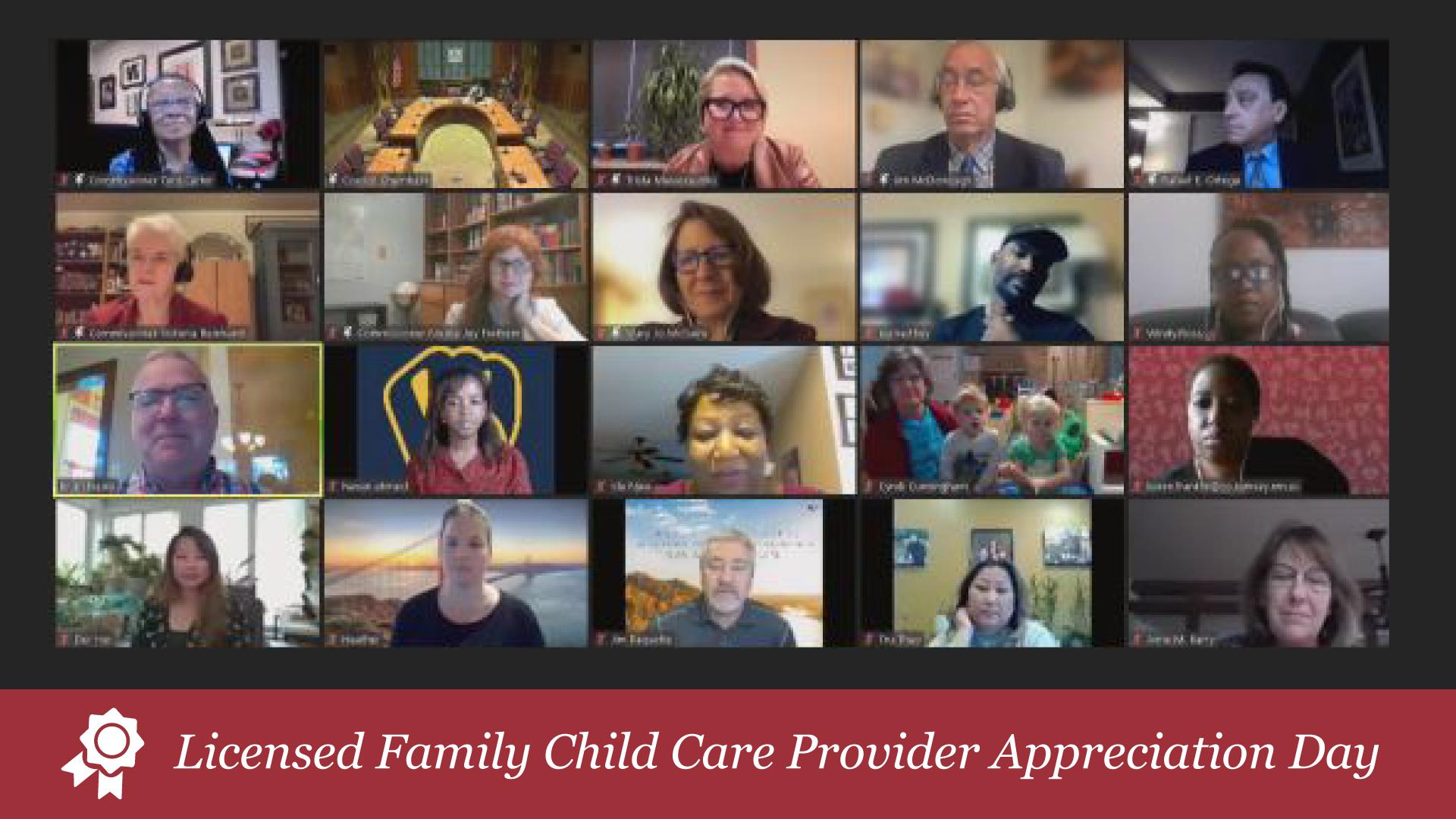 Licensed Family Child Care Provider Appreciation Day