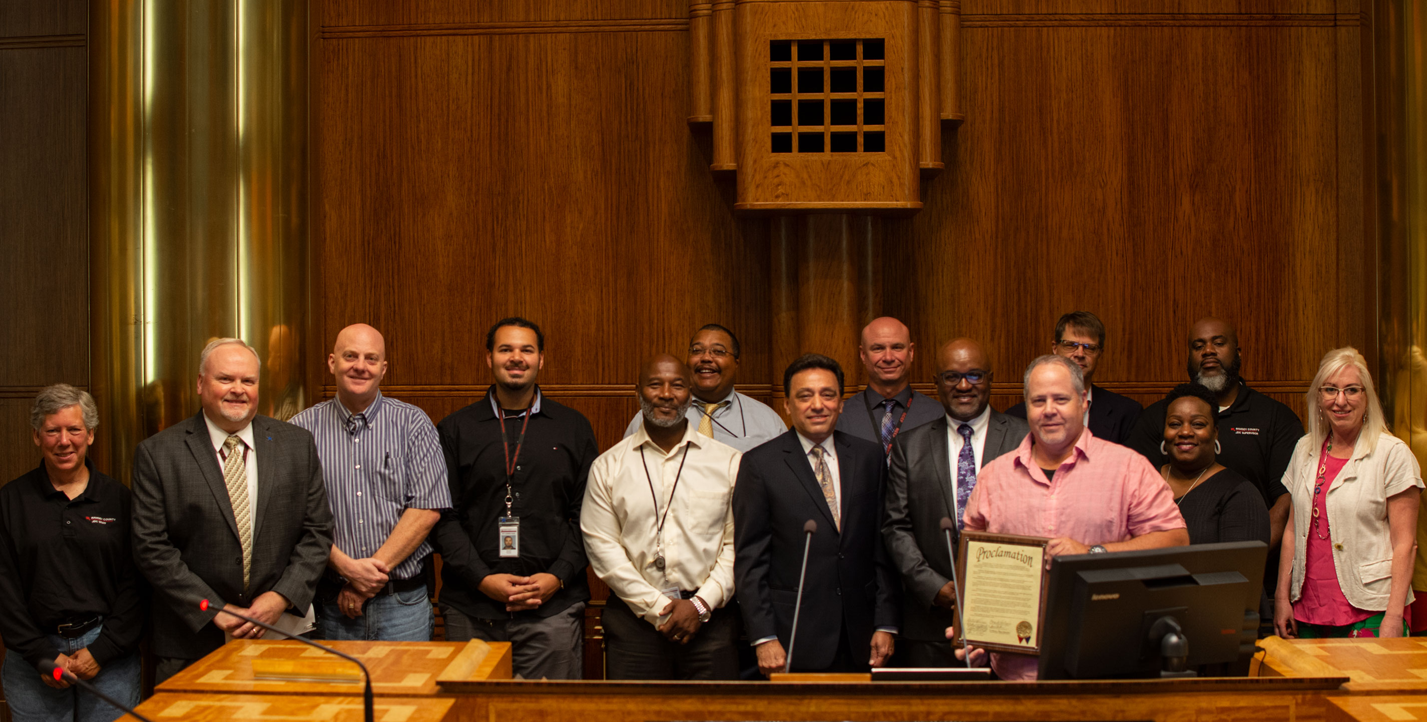 Staff at the pretrial, probation and parole proclamation ceremony