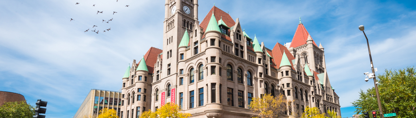 Landmark Center, a Ramsey County property, is located in downtown Saint Paul