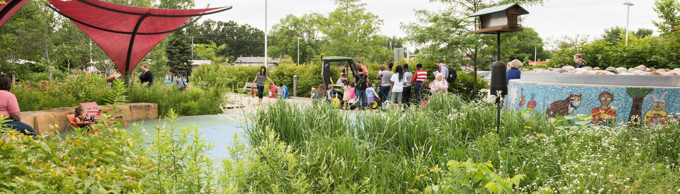 Children's Reading Garden at Ramsey County Library - Roseville.
