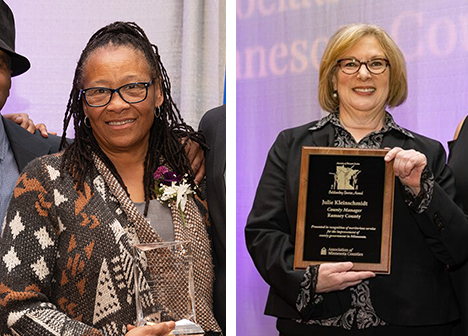 Julie Kleinschmidt and Toni Carter receive AMC awards
