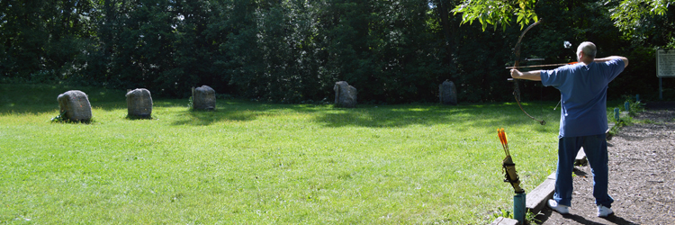 Archery range at Keller Regional Park