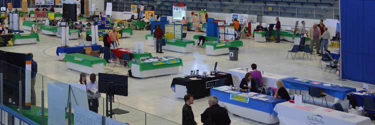 Trade show at Aldrich Arena