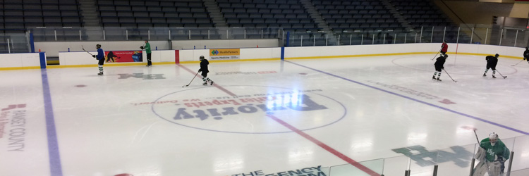 Adult open hockey Skaters at Aldrich Arena