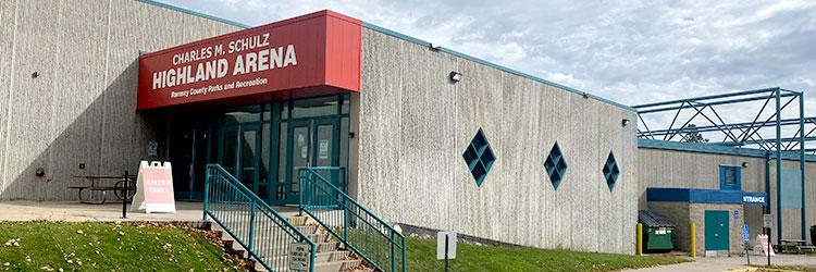 Highland Arena building exterior
