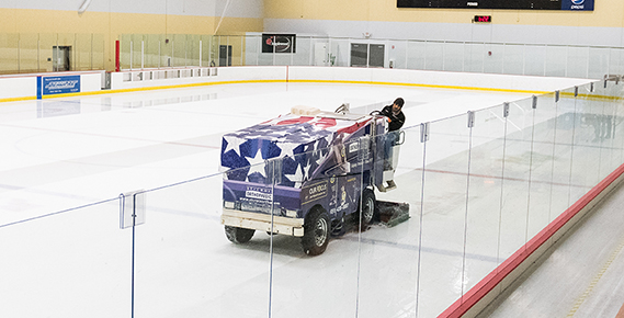 Zamboni in operation at Vadnais Sports Center