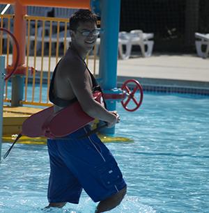 Lifeguard at Battle Creek Waterworks