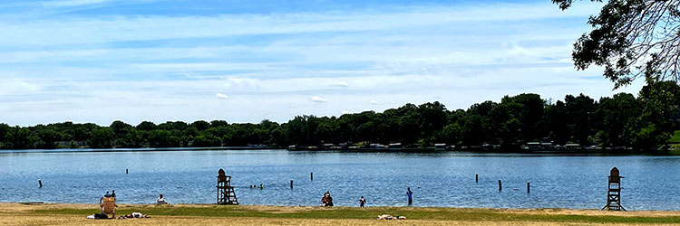 Beach at Long Lake Regional Park