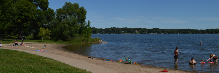 Unguarded beach at Lake Gervais County Park