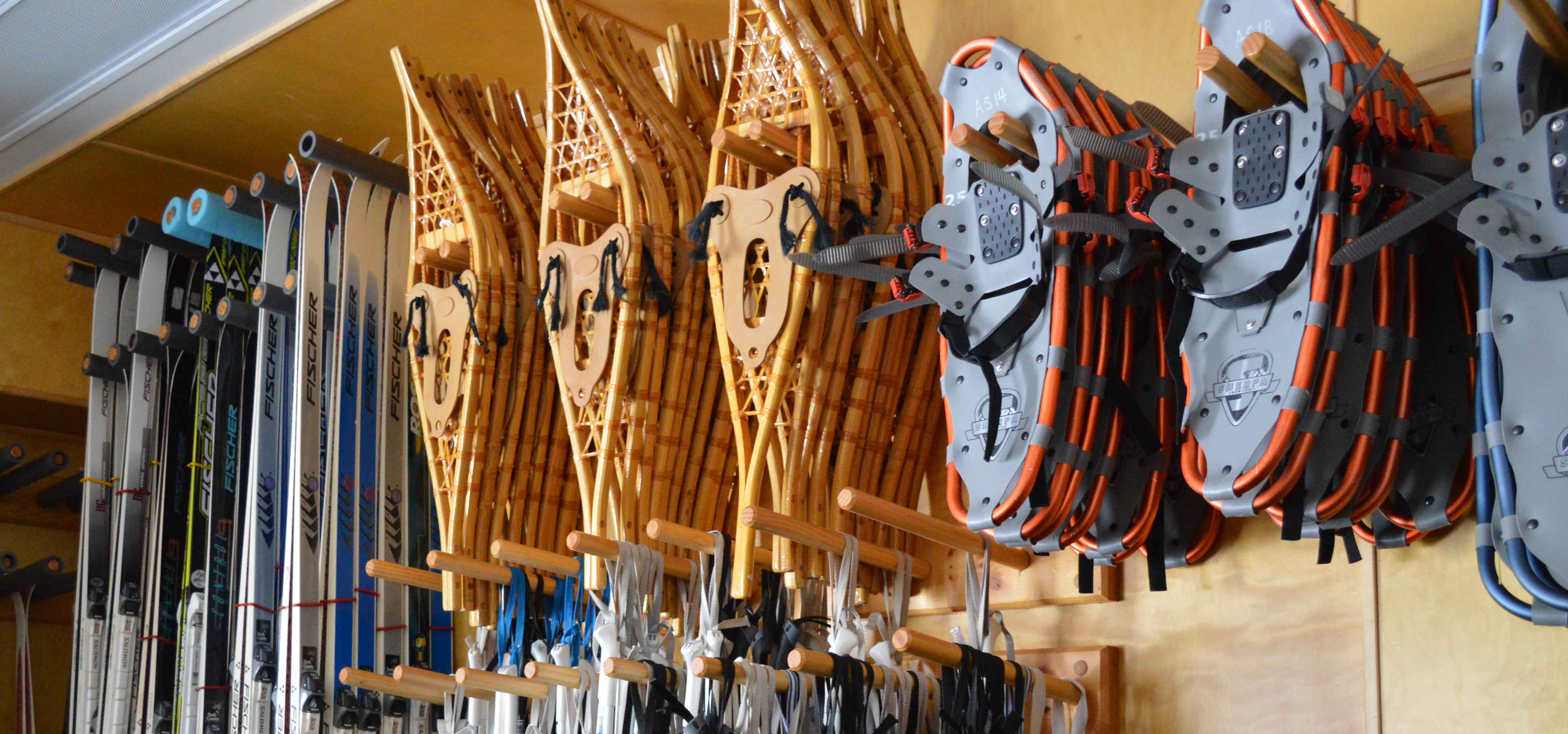 Winter Recreation Rental Shack Skis and Snowshoes