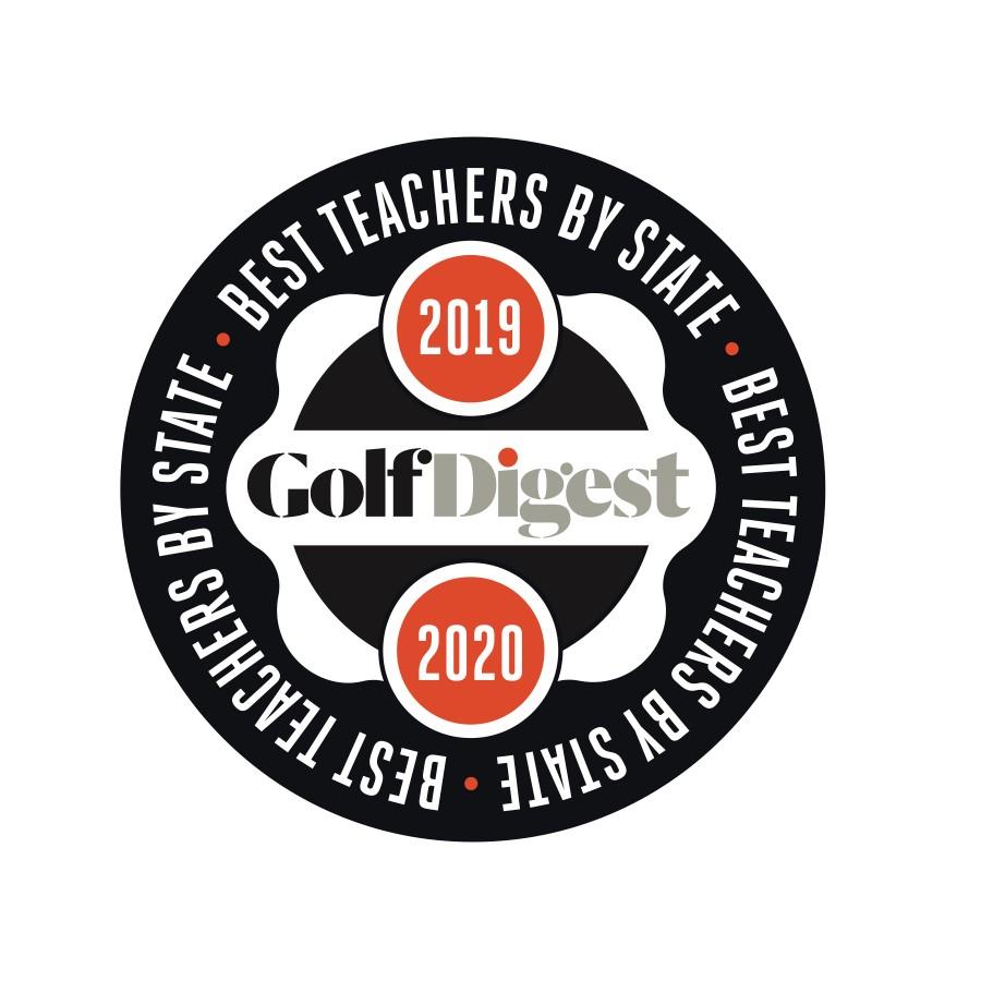 Golf Digest seal for best golf teachers in each state