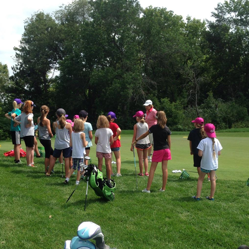 First Tee girl's golf clinic