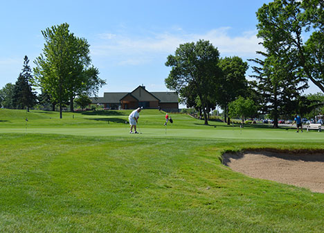 Person golfing at Goodrich Golf Course