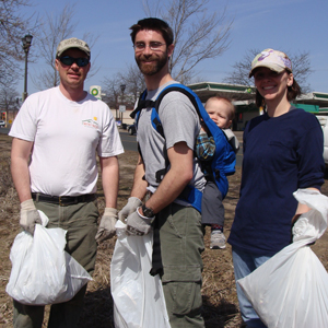 Volunteers help with cleanup at Battle Creek Regional Park