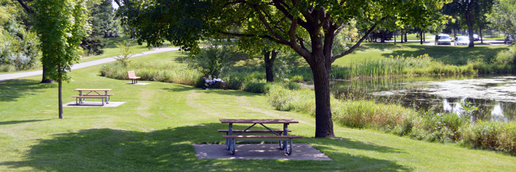 Trails and green space at Island Lake County Park