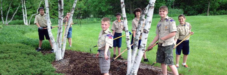 Scout troop volunteering