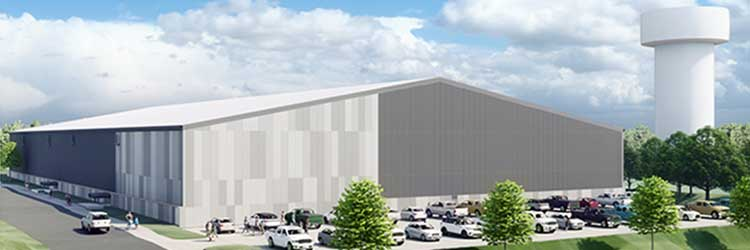 Rendering of TCO Sports Garden turf facility