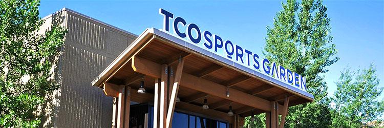 TCO Sports Garden entrance sign