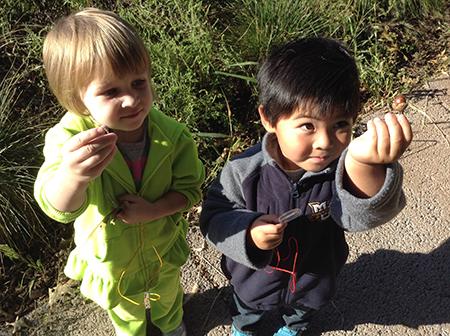 Preschool students at Tamarack Nature Center