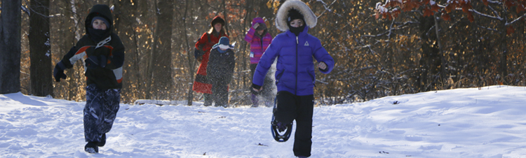 Snow shoe class at Tamarack Nature Center
