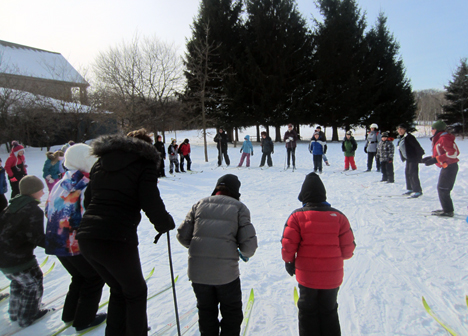 Tamarack Nature Center youth ski class