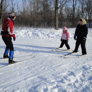 Ski lesson at Tamarack Nature Center