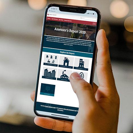 2020 Assessor's Report accessed via mobile device.