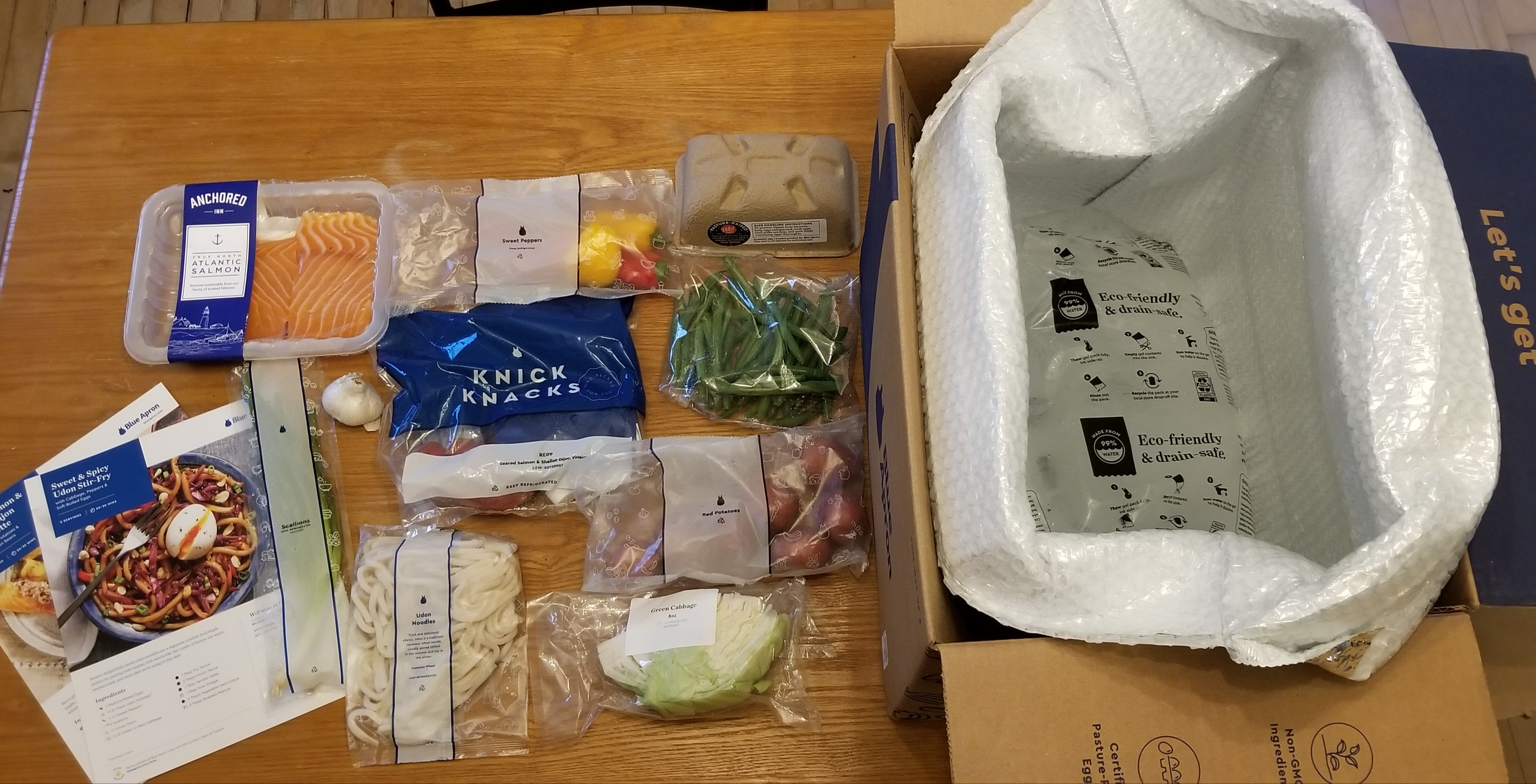 meal delivery kit packaging