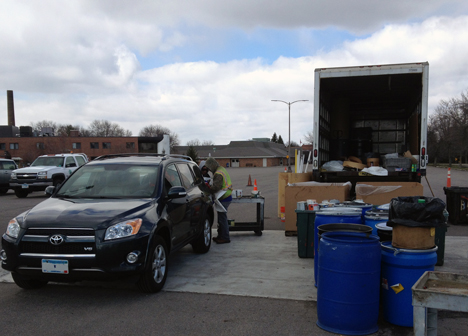 Mobile household hazardous waste collection site in Maplewood