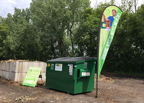 Photo of organic waste dumpster