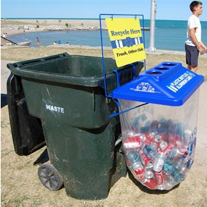 side kick recycling container