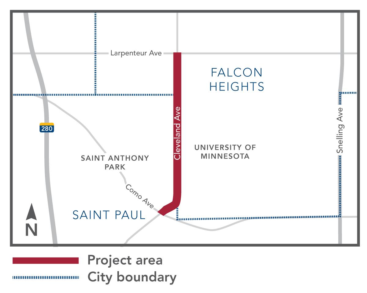Cleveland Avenue reconstruction map