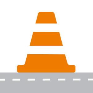 Construction cone graphic