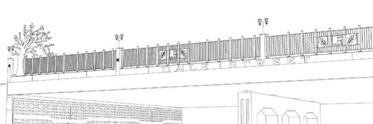 Artist sketch of the Dale Street bridge design.