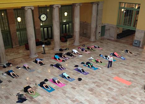 Free yoga program at Union Depot
