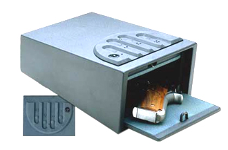 Push button gun safe