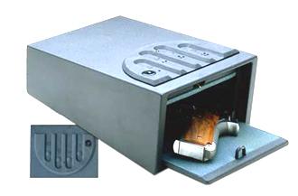 Push button gun safe