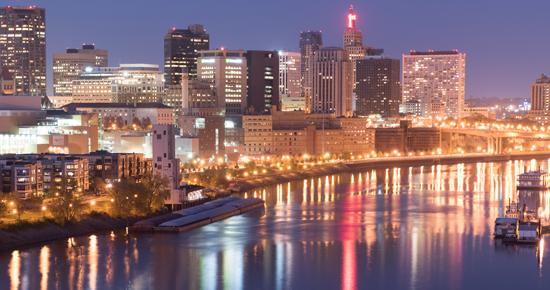 Mississippi River in downtown Saint Paul