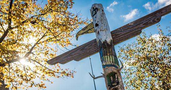 Totem pole at Boys Totem Town