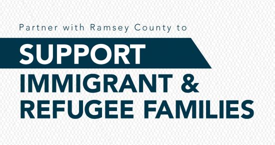 Ramsey County partnership icon for support of immigrants and refugee families